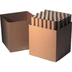 Kartonnen Koker Met Dop, Ø70mm, 680mm, Bruin