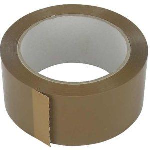 Verpakkingstape, PVC, Bruin, 48mm, 66m, 36 Rollen