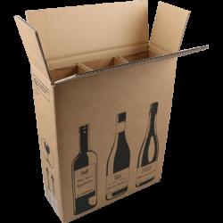 Wijnverzenddoos 3 Flessen, 380mm