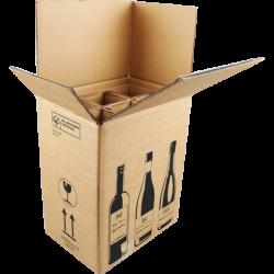 Wijnverzendoos 6 Flessen, 380mm