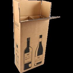 Wijnverzendoos 2 Flessen, 380mm